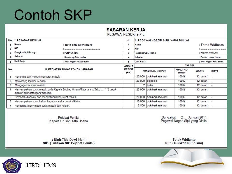 Contoh SKP HRD - UMS