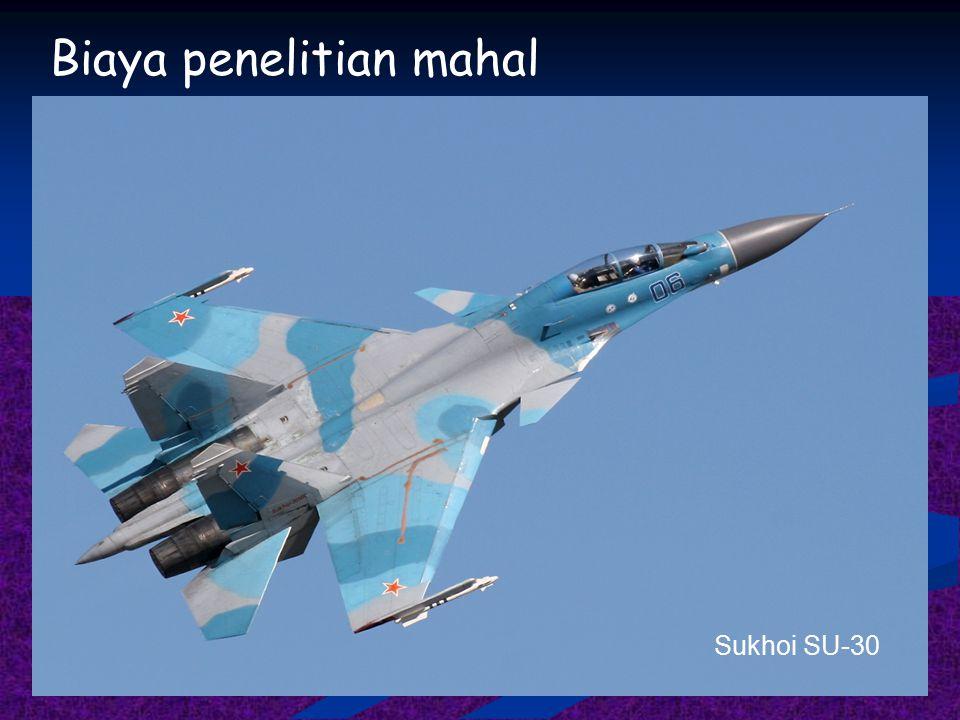 Biaya penelitian mahal Sukhoi SU-30