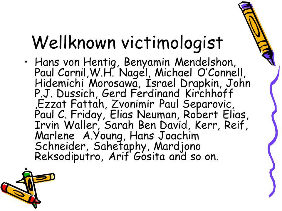 Wellknown victimologist Hans von Hentig, Benyamin Mendelshon, Paul Cornil,W.H.
