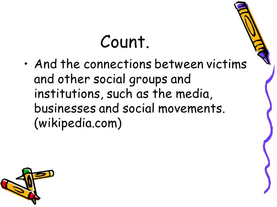 1970 International Congress of Criminology VI established organisation of victimology.