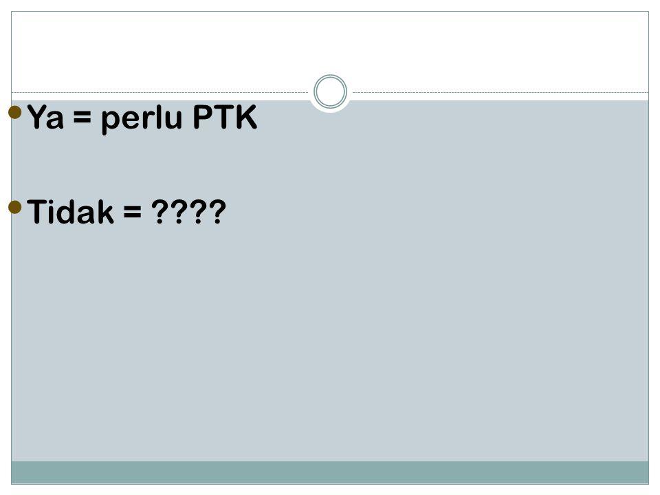 Ya = perlu PTK Tidak = ????