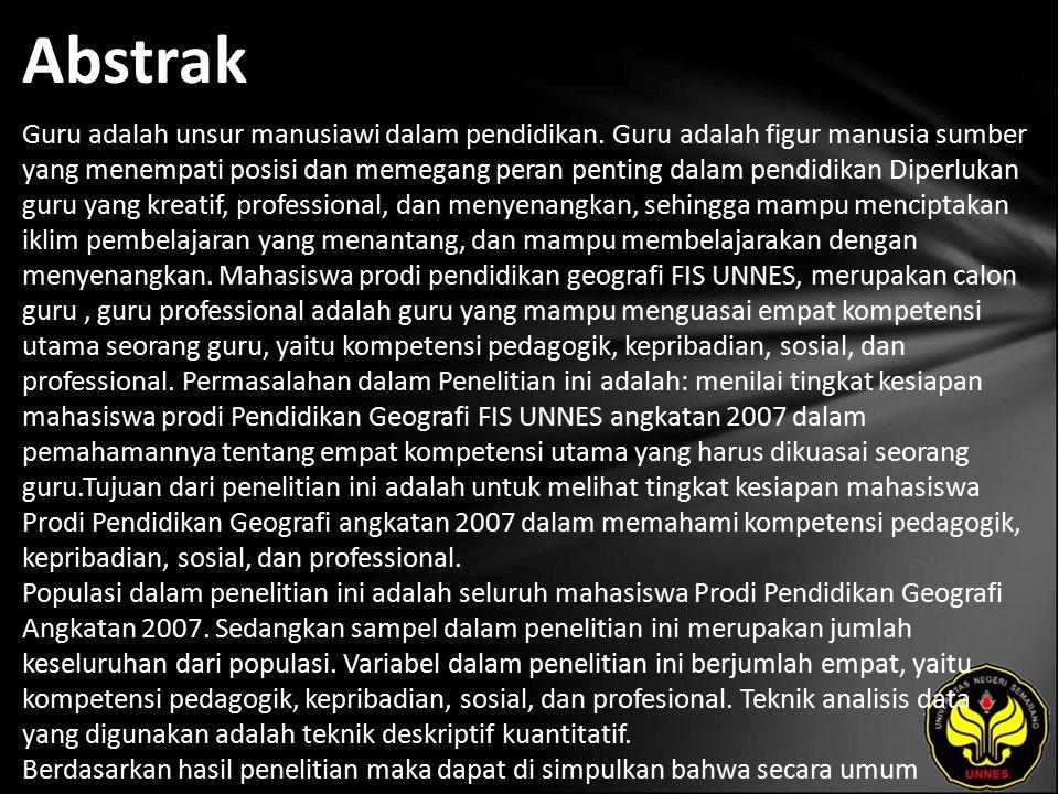 Kata Kunci Kesiapan, Mahasiswa, Tenaga Pendidik Profesional.