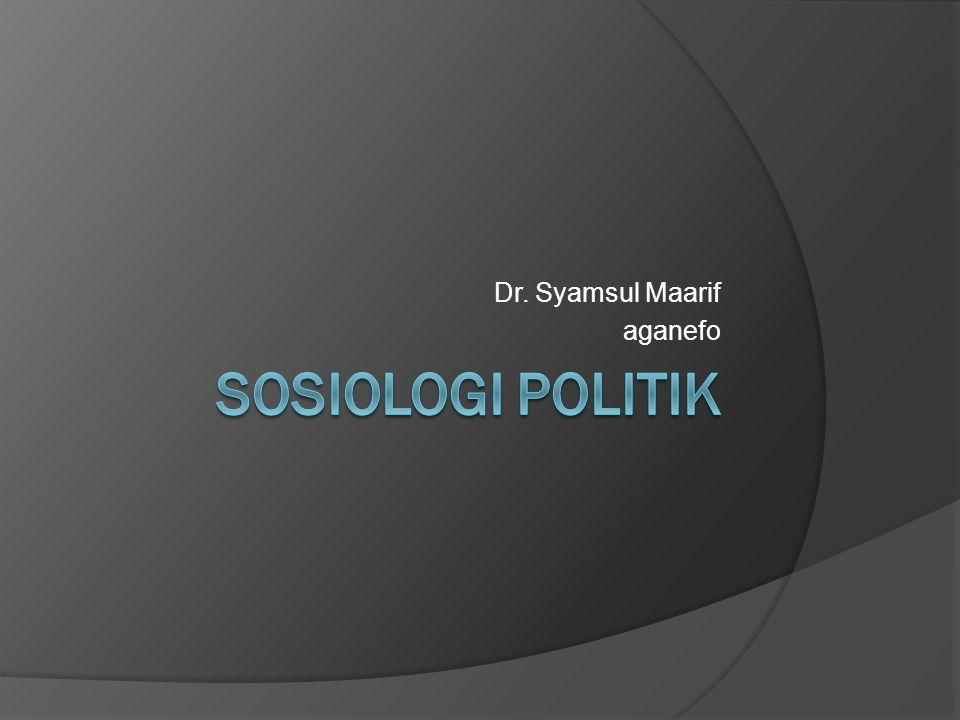 Dr. Syamsul Maarif aganefo