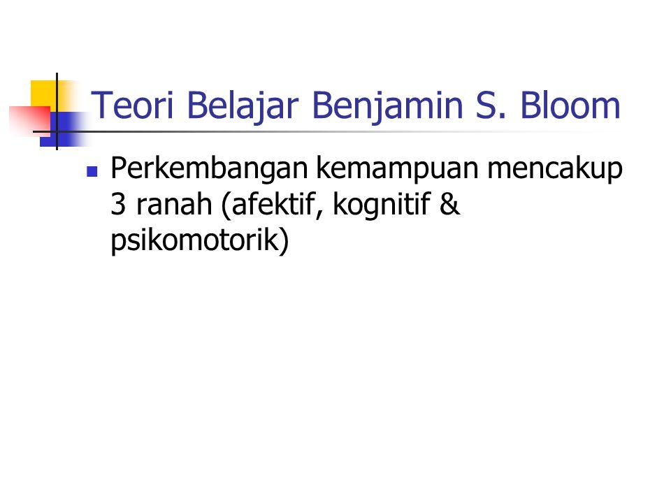 Teori Belajar Benjamin S.