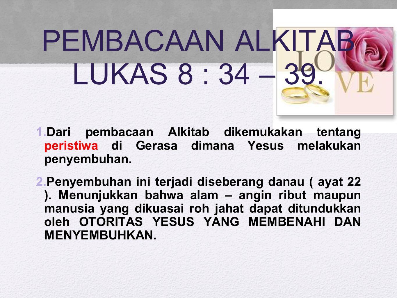 Seseorang yang dikuasai legion Ketika Tuhan Yesus bertanya Siapakah namamu? mereka menjawab: Legion , karena ia kerasukan banyak setan.
