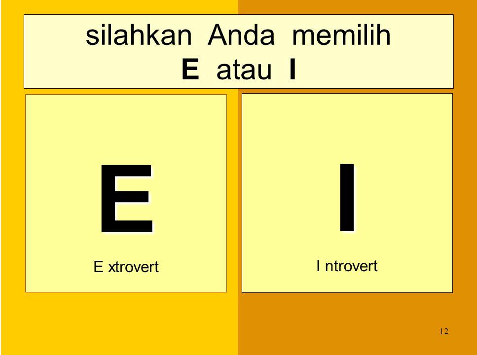 11 menentukan Tipe Anda dari uraian mengenai ke-8 preferensi (4 pasangan), Anda memilih 4 preferensi. 4 preferensi yang dipilih menghasilkan 4 kombina