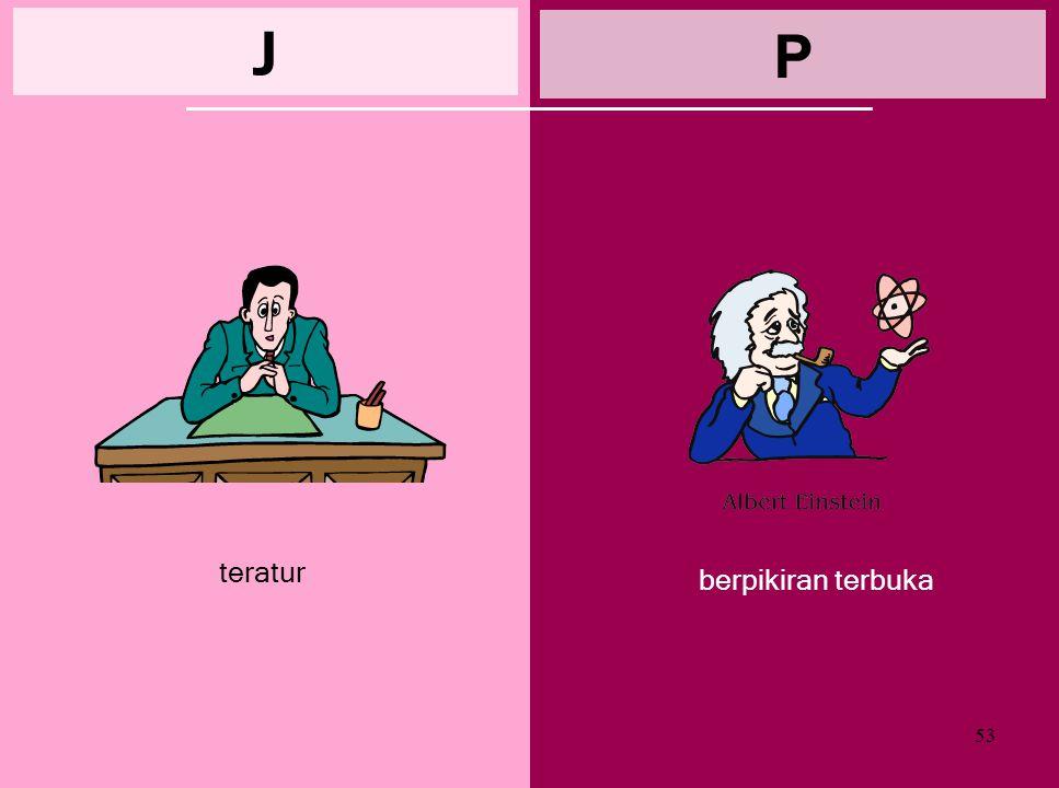 52 terjadwal J spontan P schedule