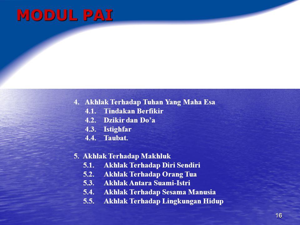 17 MODUL PAI 6.Prinsip-prinsip Pengetahuan Alam Dalam Kitab Suci 6.1.
