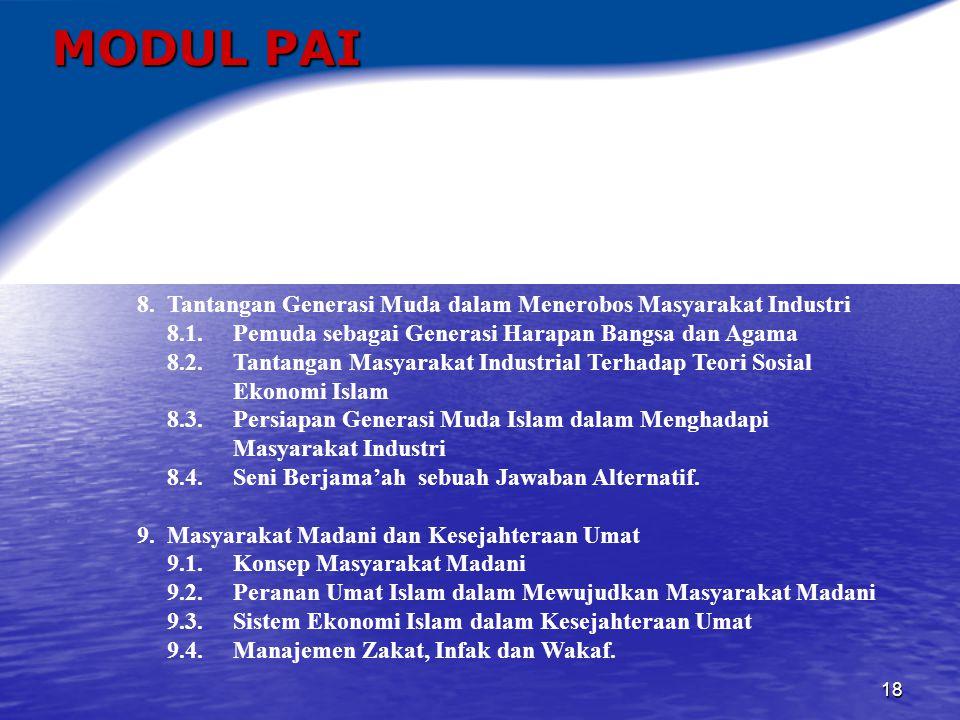 19 MODUL PAI 10.Kerukunan Antar Umat Beragama 10.1.
