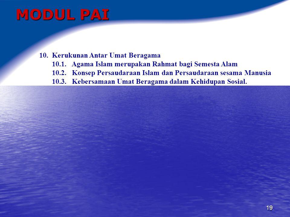20 MODUL PAI Pendekatan dan strategi pembelajaran Matakuliah Pengembangan Kepribadian Pendidikan Agama Islam a.