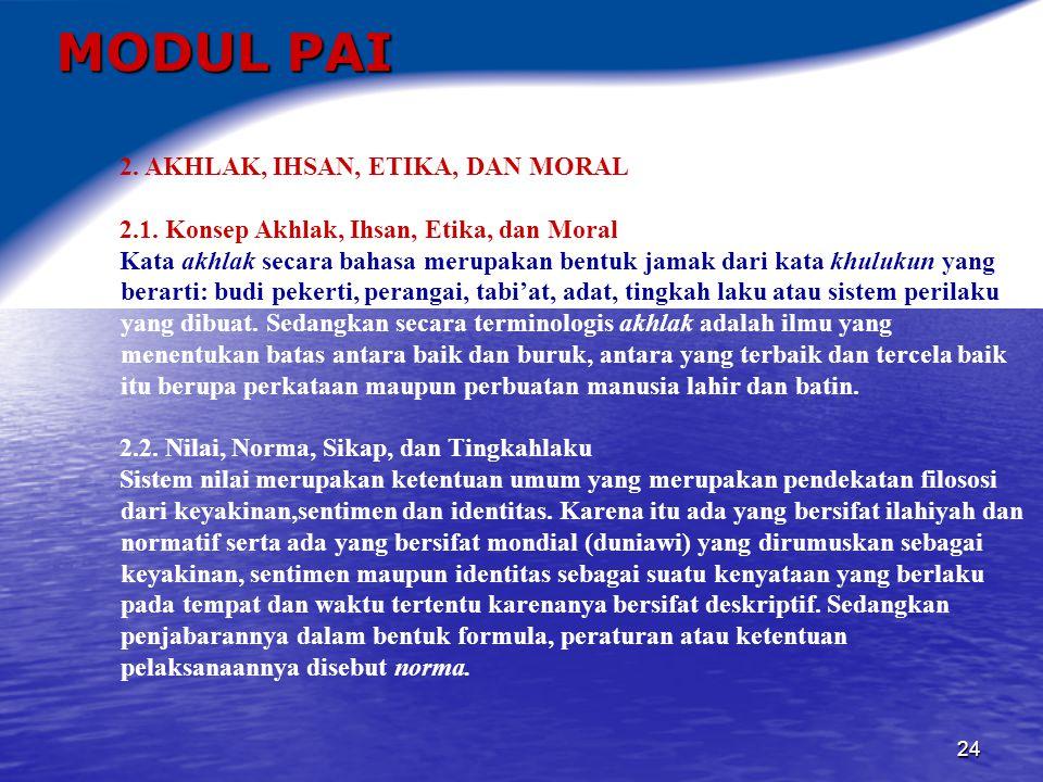 25 MODUL PAI 3.AKHLAK TERHADAP TUHAN YANG MAHA ESA 3.1.
