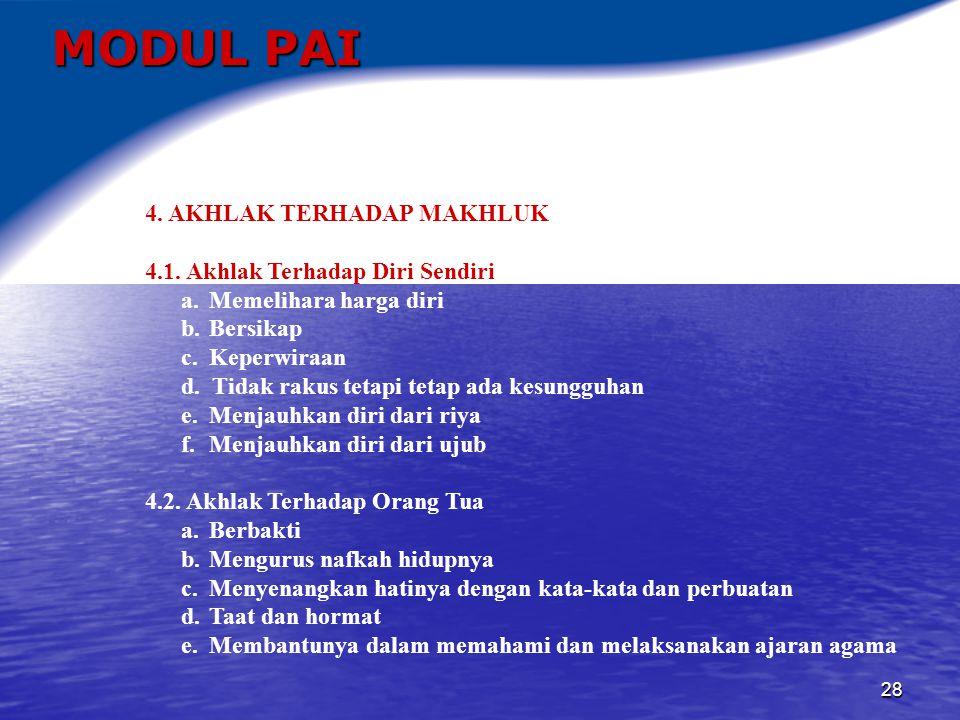 29 MODUL PAI 4.3.Akhlak Terhadap Suami-Istri 4.3.1.