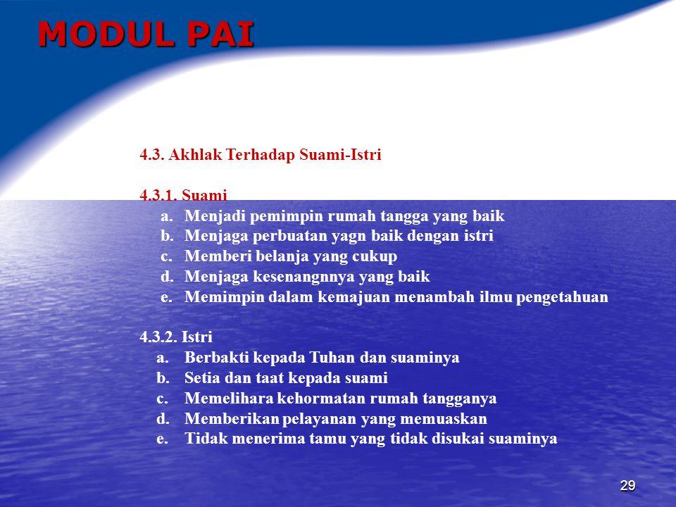 30 MODUL PAI 4.4.Akhlak Terhadap Sesama Manusia a.