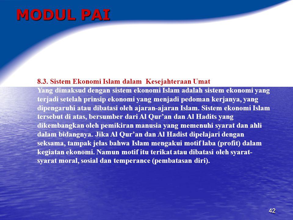 43 MODUL PAI 8.4.Manajemen Zakat, Infak dan Wakaf 8.4.1.