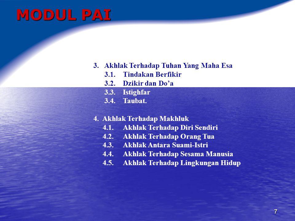 8 MODUL PAI 5.Prinsip-prinsip Pengetahuan Alam Dalam Kitab Suci 5.1.
