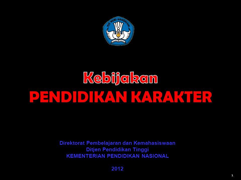 Direktorat Pembelajaran dan Kemahasiswaan Ditjen Pendidikan Tinggi KEMENTERIAN PENDIDIKAN NASIONAL 2012 1