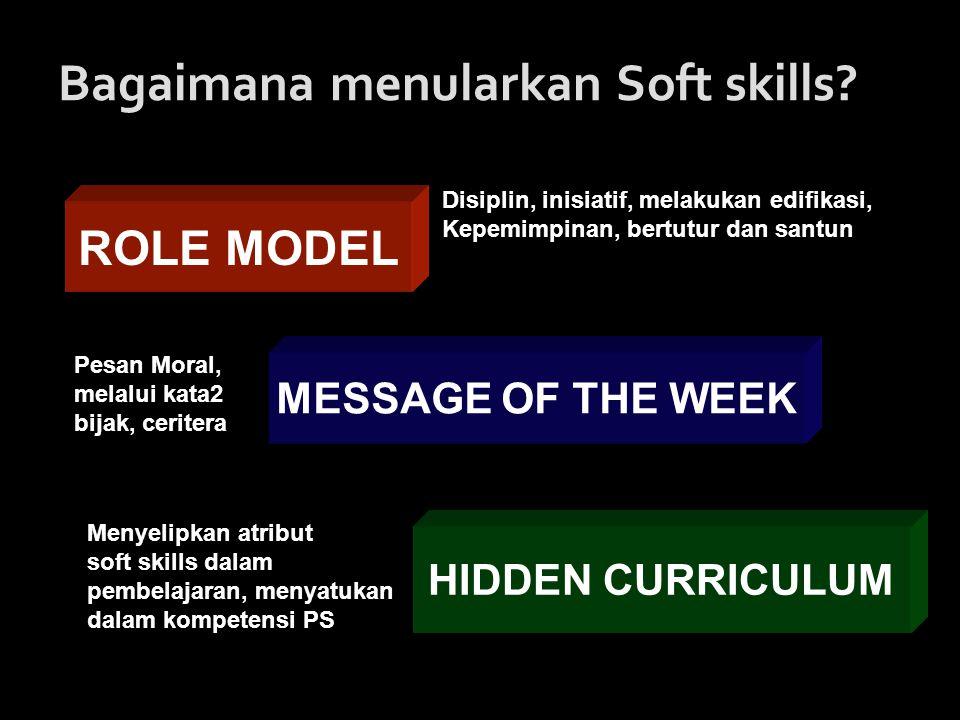 Bagaimana menularkan Soft skills.