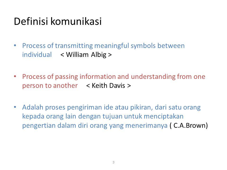 """Komunikasi berasal dari bahasa latin """"communis"""" atau 'common"""" dalam Bahasa Inggris yang berarti sama. Berkomunikasi berarti kita berusaha untuk mencap"""