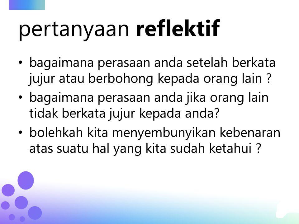 krisis kejujuran kualitas dan tingkat kejujuran di Indonesia sangat rendah dan patut dipertanyakan.