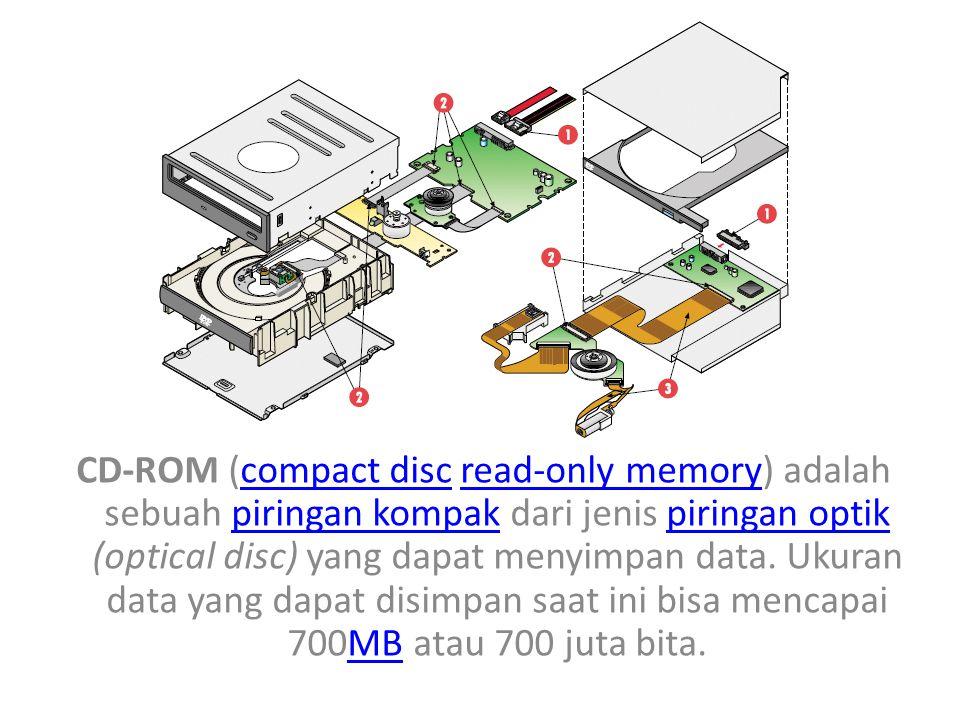 CD-ROM (compact disc read-only memory) adalah sebuah piringan kompak dari jenis piringan optik (optical disc) yang dapat menyimpan data.