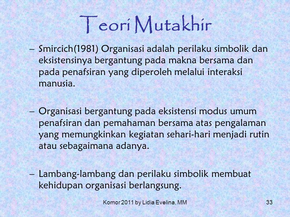 32 Teori Mutakhir 1.