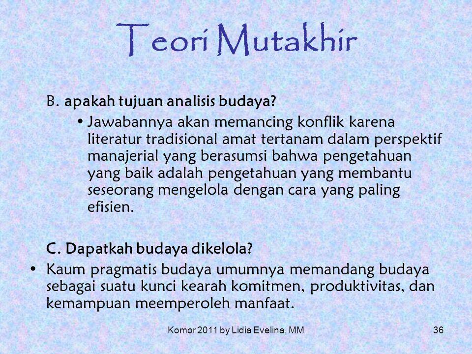 35 Teori Mutakhir A.