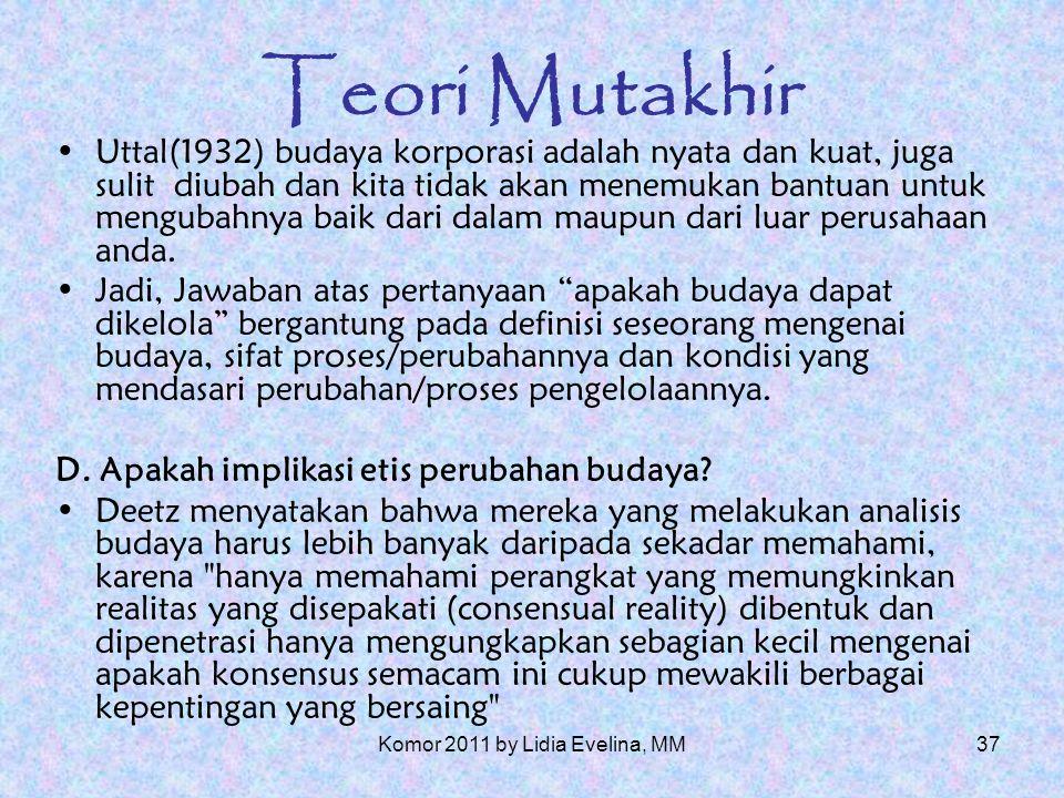 36 Teori Mutakhir B.apakah tujuan analisis budaya.