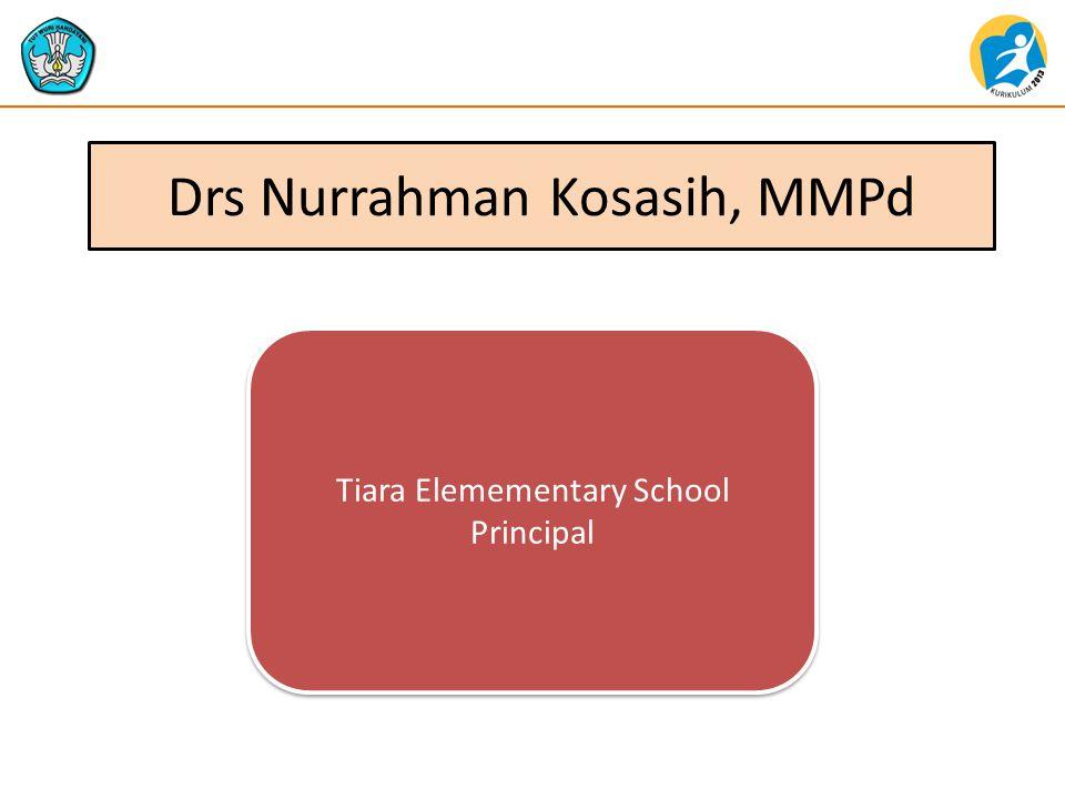 Drs Nurrahman Kosasih, MMPd Tiara Elemementary School Principal