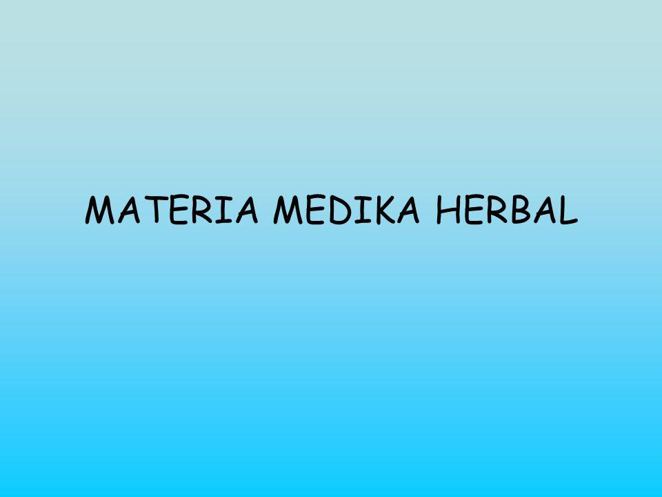 MATERIA MEDIKA HERBAL