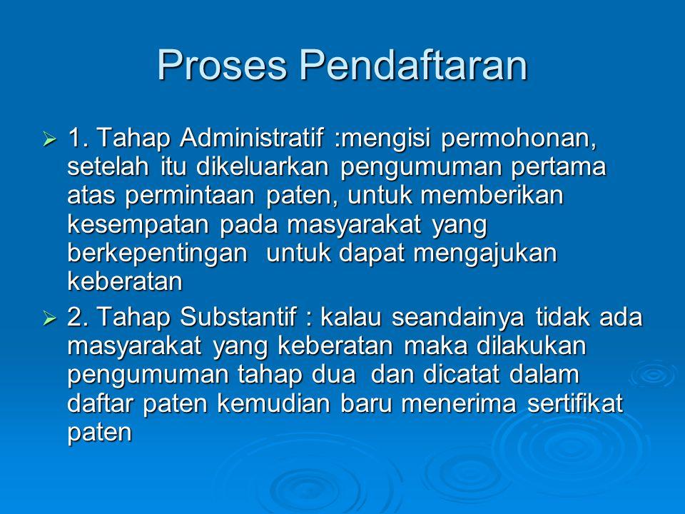 Proses Pendaftaran  1.