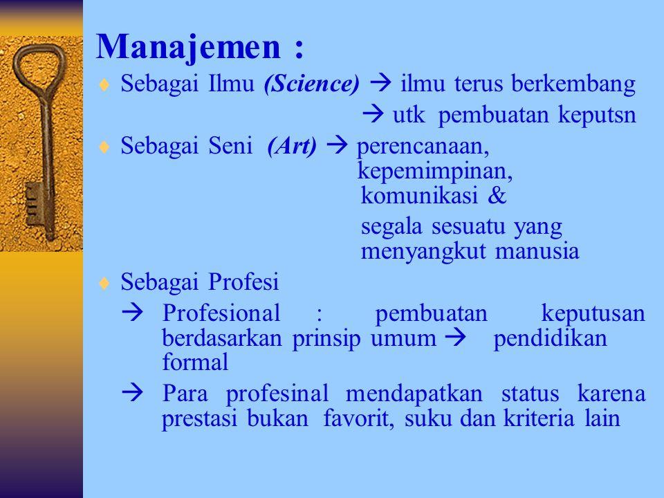 Skema Pengertian Manajemen MemanfaatkanSumber daya Efektif Efisien Tujuan