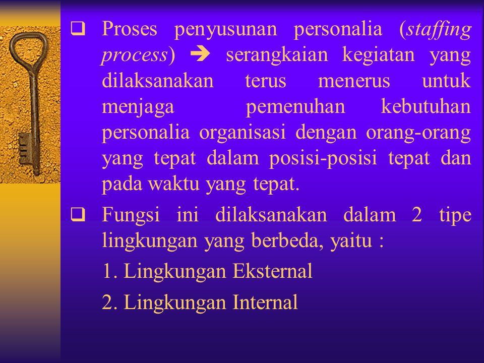 9. PENYUSUNAN PERSONALIA ORGANISASI  Sumber daya terpenting suatu organisasi adalah sumber daya manusia, orang-orang yang memberikan tenaga, bakat, k