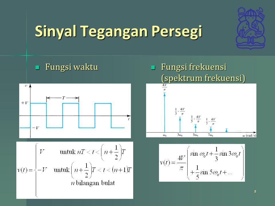 Spektrum Sinyal Sebarang Fungsi waktu Fungsi waktu Spektrum frekuensi Spektrum frekuensi 6