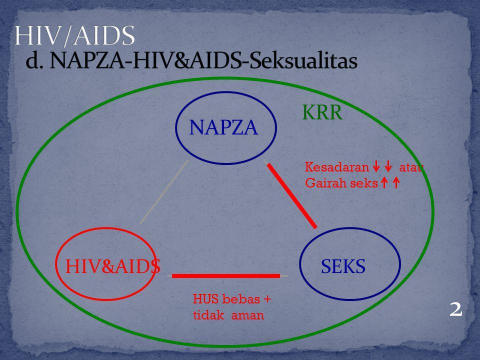 NAPZA HIV&AIDSSEKS 2 Kesadaran atau Gairah seks HUS bebas + tidak aman KRR