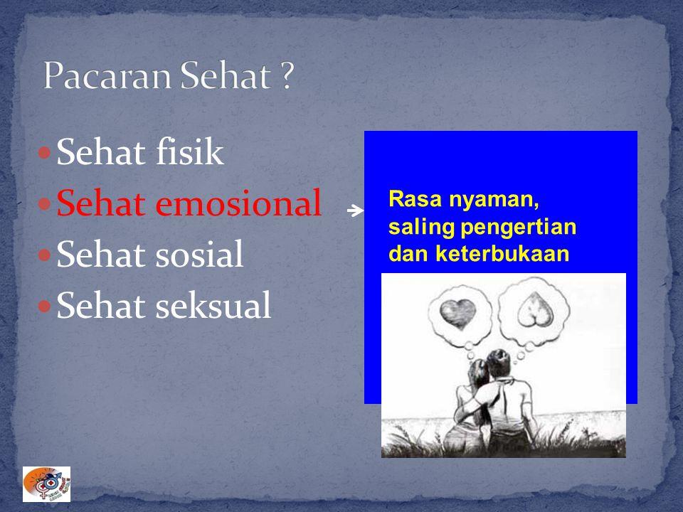 Sehat fisik Sehat emosional Sehat sosial Sehat seksual Rasa nyaman, saling pengertian dan keterbukaan Pengendalian emosi