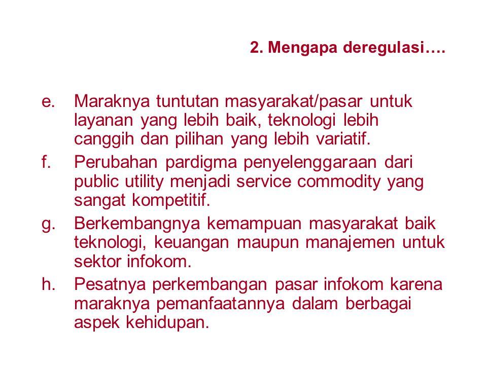 2.Mengapa deregulasi dan privatisasi.