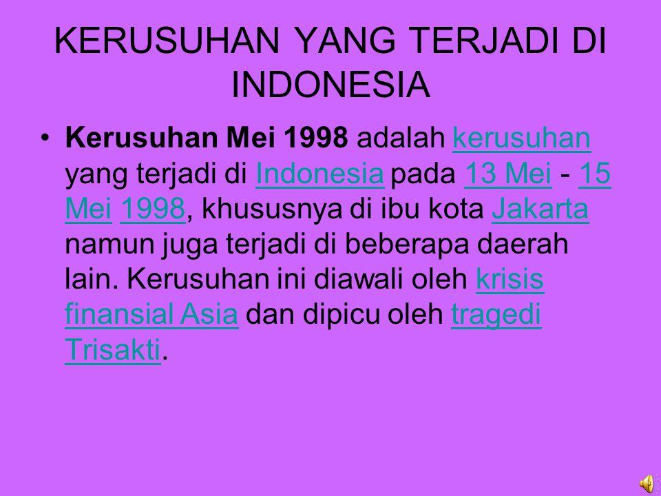 KRISIS FINANSIAL YANG TERJADI DI ASIA Pada pertengahan 1997, Indonesia diserang krisis keuangan dan ekonomi Asia disertai kemarau terburuk dalam 50 tahun terakhir dan harga minyak, gas dan komoditas ekspor lainnya yang semakin jatuh.