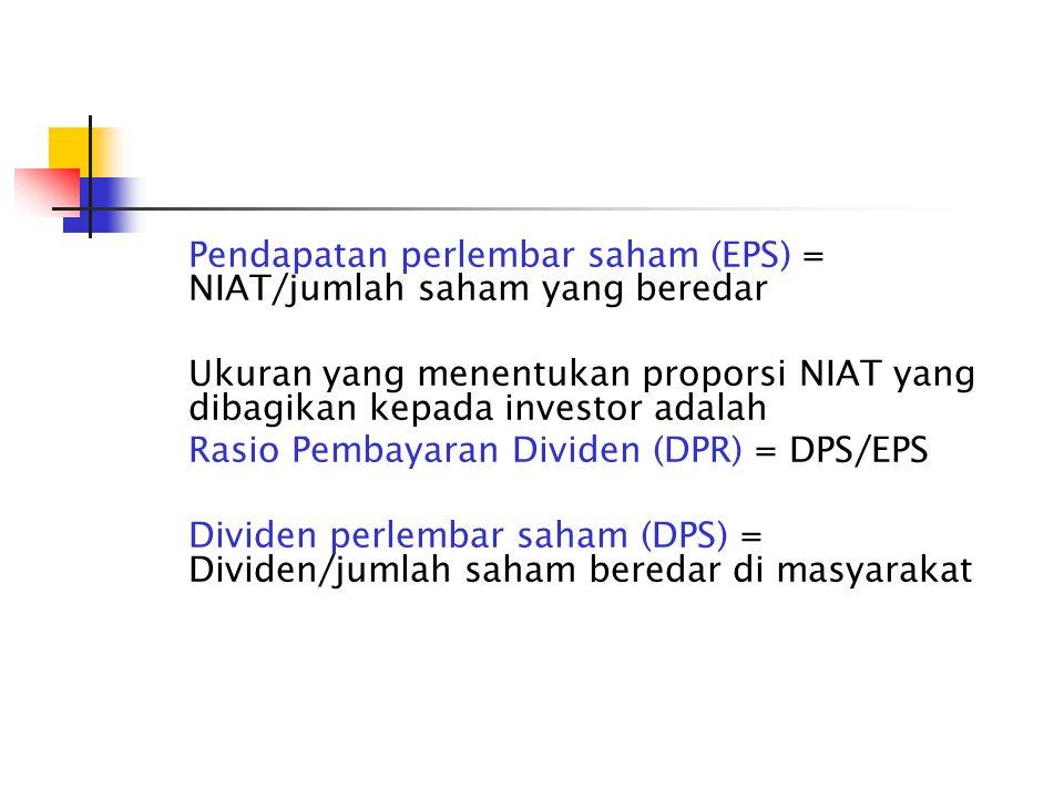 Contoh: PT.A telah membukukan laba bersih setelah pajak (NIAT) sebesar Rp.