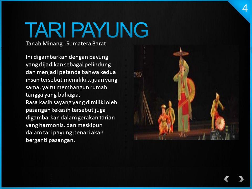 Tanah Minang. Sumatera Barat Ini digambarkan dengan payung yang dijadikan sebagai pelindung dan menjadi petanda bahwa kedua insan tersebut memiliki tu