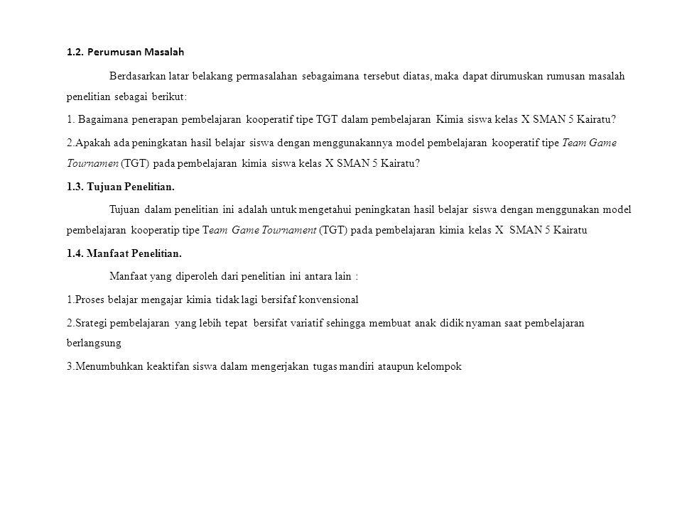 BAB II TINJAUAN PUSTAKA 2.1.Model Pembelajaran Kooperatif.