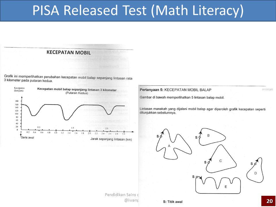 PISA Released Test (Math Literacy) Pendidikan Sains dan Matematika ~ @iwanpranoto 20
