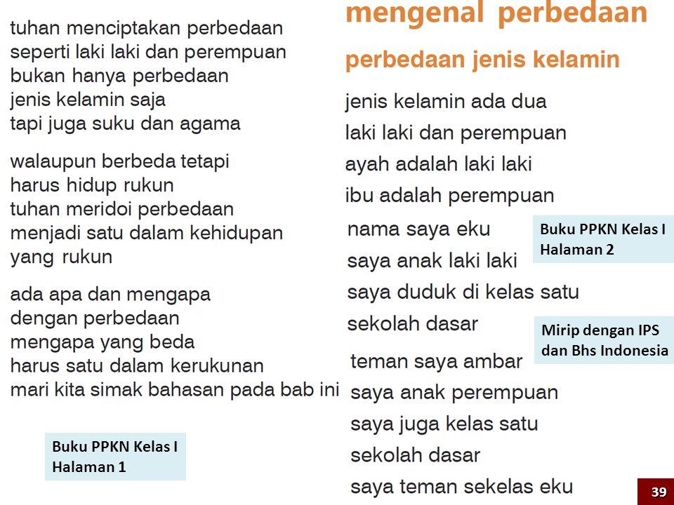 Buku PPKN Kelas I Halaman 1 Buku PPKN Kelas I Halaman 2 Mirip dengan IPS dan Bhs Indonesia 39