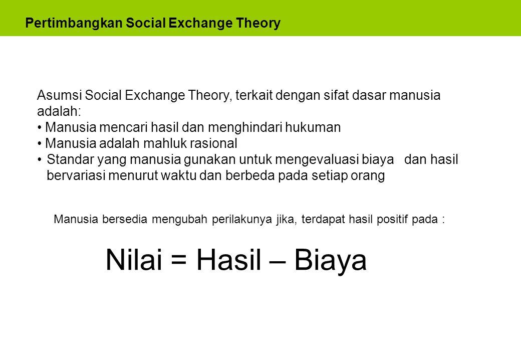 Pemasaran Produk Sosial Maka pemasaran produk sosial dapat diberi pengertian sebagai : is a strategy for changing behavior.