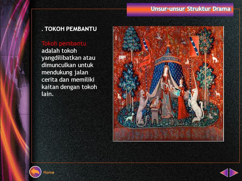 Home Unsur-unsur Struktur Drama. TOKOH UTAMA Tokoh utama setidaknya ditandai oleh empat hal menjadi sentral atau pusat perhatian tokoh-tokoh yang lain