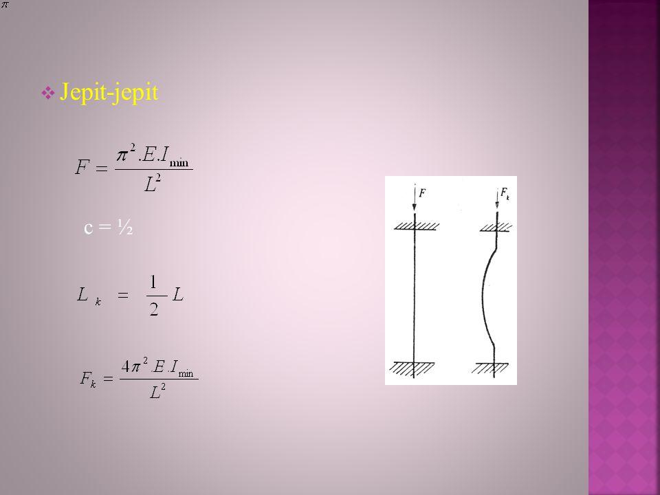 Jepit-jepi t c = ½