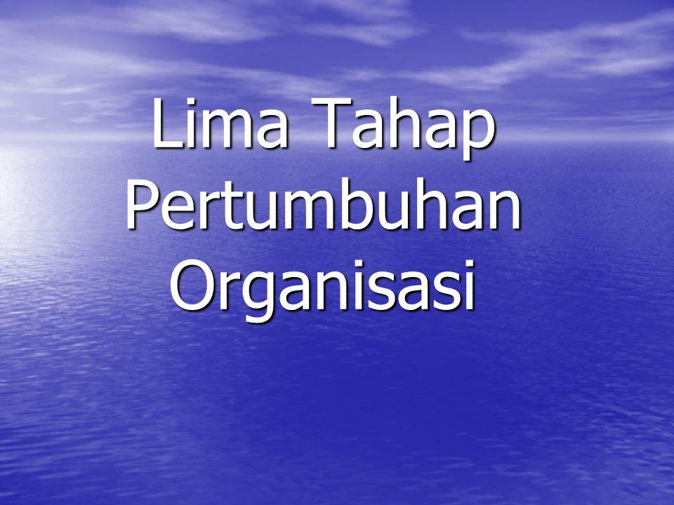 Lima Tahap Pertumbuhan Organisasi