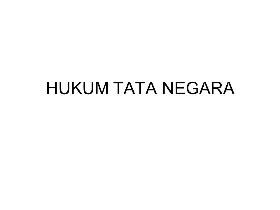 HUKUM TATA NEGARA