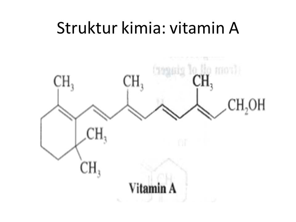 Struktur kimia: vitamin A