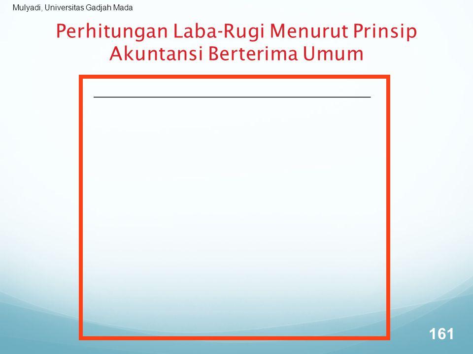 Mulyadi, Universitas Gadjah Mada Perhitungan Laba-Rugi Menurut Prinsip Akuntansi Berterima Umum 161
