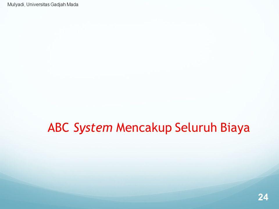 Mulyadi, Universitas Gadjah Mada ABC System Mencakup Seluruh Biaya 24